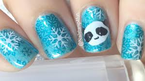 how to panda nail art using the crystal clear nail stamper youtube