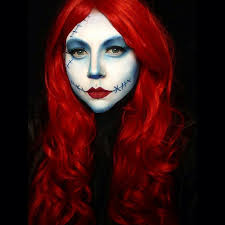 Sally Halloween Costume Adults Red Hair Red Hair Rainbow Hair Halloween Costumes