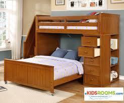 Captain Bed With Desk Multifunction Loft Bed In Pecan Allen House Kids Loft Beds And