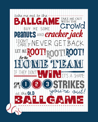 take me out to the ballgame free printable how to nest for less