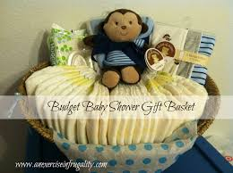 baby shower baskets baby shower gift basket an exercise in frugality