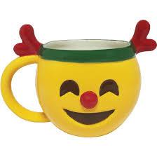 Unusual Mugs by Christmas Emoji Mug Reindeer Mugs Unique Gifts Gear U0026 Home