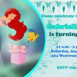 how to select the little mermaid birthday invitations free