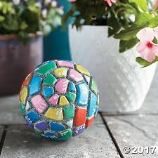 your own mosaic garden orb