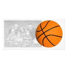 basketball photo cards zazzle