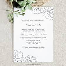 succulent wedding invitations succulent wedding invitation diy digital printable by thediystore