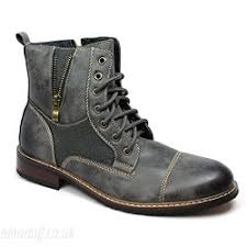 grey ferro aldo men u0027s ankle dress boots suede leather lace up cap