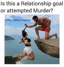Attempted Murder Meme - s this a relationship goal or attempted murder meme on me me