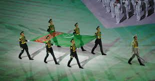 Flag Of Turkmenistan Guam Athletes Mark Asian Games Opening Ceremonies