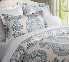 Best Non Feather Duvet Lucianna Medallion Duvet Cover U0026 Sham Pottery Barn