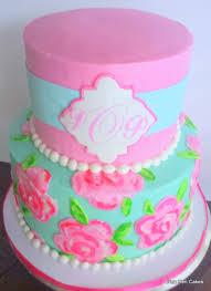 cake monograms monogram lilly pulitzer inspired bridal shower cake cakes