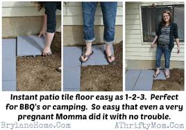 patio tile floor in less than 30 min diy mothers day gift idea