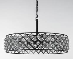 Wide Chandelier Am6025 Round Wide Iron Grid Clear Crystal Glass Hoop Pendant