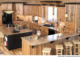 Top  Best Rustic Hickory Cabinets Ideas On Pinterest Hickory - Long kitchen cabinets