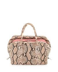bag with light inside prada medium python inside bag light pink dark pink pesca tamaris