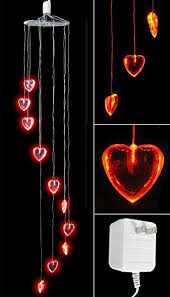 Valentine S Day Yard Decorations by Amazon Com Heart Decorations Red Heart Shaped Lights Led