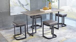 jansen gray 5 pc counter height dining set dining room sets colors