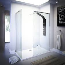 500mm walk in shower enclosure wet room easyclean 10mm glass tall