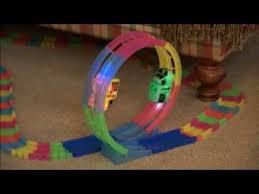 as seen on tv light up track mindscope neon glow twister tracks 360 set youtube