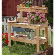 outdoor cypress wooden potting table lehman u0027s