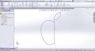 tutorial modeling apple 3d logo in solidworks grabcad