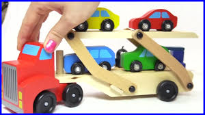 car toy for kids colors for kids with car transporter u0026 toy cars youtube