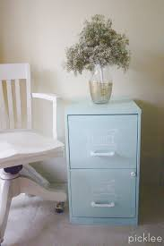 Chalk Paint On Metal Filing Cabinet Chalk Painted Filing Cabinet Tutorial Picklee