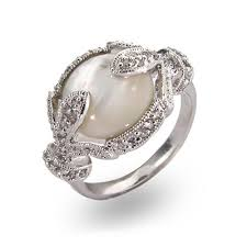 pearl engagement rings deco style mother of pearl ring in sterling silver eve u0027s addiction