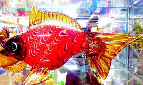 wholesale boutique home decor lucky large glass fish boutique home decor furnishings opening gifts