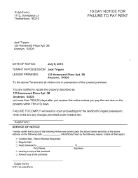 indiana 10 day notice for failure to pay rent ez landlord forms