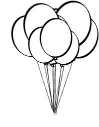 amazing appealing birthday balloons coloring pages image printable
