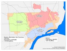 Map Of New York And Manhattan by Comparing Detroit To Other Cities Look At The Map