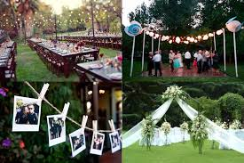 Backyard Wedding Centerpiece Ideas Small Backyard Wedding Decor Ideas Different Yard