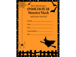 Halloween Party Invite Poem Blank Halloween Invitation Backgrounds U2013 Festival Collections
