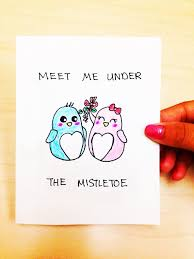 funny christmas card boyfriend meet me under the mistletoe card