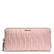 light pink coach wallet coach f51498 madison gathered leather accordion zip wallet light
