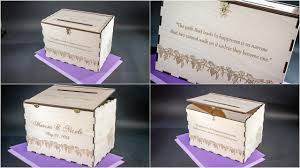 wedding box wedding card or money box for