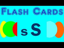 flash cards words starting with the letter s youtube