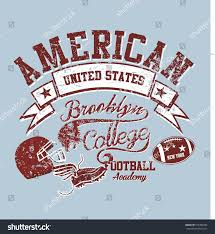 Football Flag Printing American College Football Graphic Design Vector Stock Vector