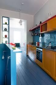 vibrant colour vignettes vamp up georgian apartment kitchen