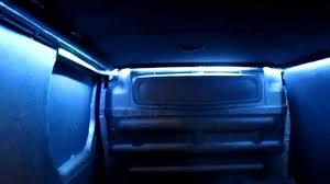 Led Strips Light by Led Strip Lighting In Back Of Van Conversion Youtube