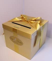 wedding gift gold wedding card box gold gift card box money box holder customize