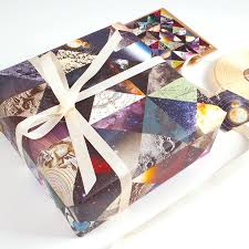 designer wrapping paper constellation space luxury gift wrapping paper by bombus