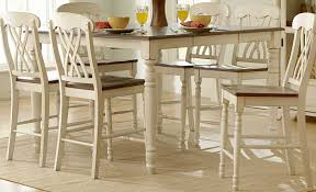 counter height dining table butterfly leaf homelegance ohana 2 tone butterfly leaf extendable counter height