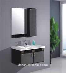 jisheng mirrored cabinets plastic bathroom cabinet in melamine
