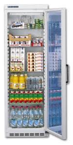 glass door display fridges from gram and liebherr
