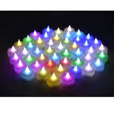 candle light decoration at home instapark lcl c48 battery powered flameless color changing led