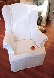 White Armchair Slipcover Best 25 Wingback Chair Covers Ideas On Pinterest Wingback