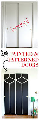 Interior Door Makeover Diy Painted And Patterned Doors