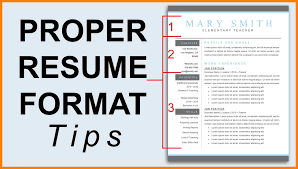 how do you format a resume format resume 2018 pertamini co